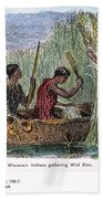 Great Lakes: Canoe, 19th C Bath Towel