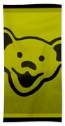 Greatful Dead Dancing Bear In Yellow Bath Towel