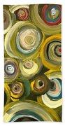 Green Abstract Feeling Bath Sheet by Draia Coralia