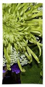 Green Spider Mum Bath Towel