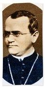 Gregor Mendel, Father Of Genetics Bath Towel