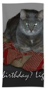 Grumpy Cat Birthday Card Bath Towel