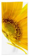 Half Yellow Gerbera Bath Towel