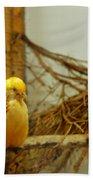 Halloween Yellow Bird Bath Towel