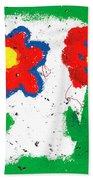 Happy Colorful Flowers Bath Towel