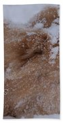Happy Holidays Christmas Card Bath Towel