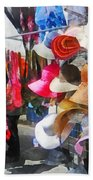 Hats And Purses At Street Fair Bath Towel