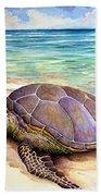 Hawaiian Green Turtle Bath Towel