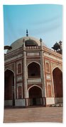 Hawk Flying Next To Humayun Tomb Delhi Bath Towel