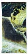 Hawksbill Sea Turtle Portrait Bath Towel