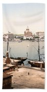 Helsinki Finland - Russian Cathedral And Harbor Bath Towel
