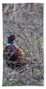 Hiding Pheasant Bath Towel