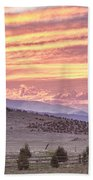 High Park Fire Larimer County Colorado At Sunset Bath Towel