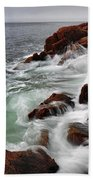High Tide At Bass Harbor Head Bath Towel