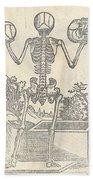Historical Anatomical Illustration Bath Towel