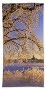 Hoar Frost On Tree, Milton, Prince Bath Towel