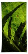 Holly Hock Foliage Bath Towel