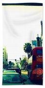 Hollywood Boulevard In La Bath Towel