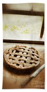 Home Made Pie Cooling By Open Window Bath Towel