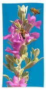 Honey Bees On Sage 1 Bath Towel