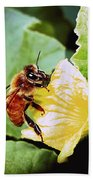 Honeybee And Cantalope Bath Towel