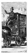 Horse Carriage, 1853 Bath Towel