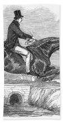 Horse-jumping, 1852 Bath Towel