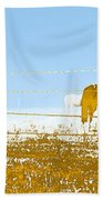 Horse Pasture Revblue Bath Towel
