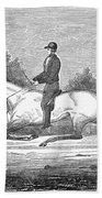 Horse Racing, 1851 Bath Towel