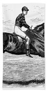 Horse Racing, 1880s Bath Towel
