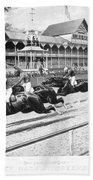 Horse Racing, 1889 Bath Towel