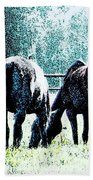 Horse Tails Color Splashed Bath Towel