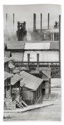 Houses And Steelmill Bath Towel