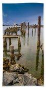 Humboldt Bay Over Darkening Skies Bath Towel