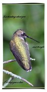 Hummingbird - Thinking Of You Hand Towel