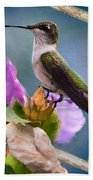 Hummingbird Picture Pretty Bath Towel