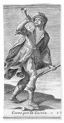 Hunting Horn, 1723 Bath Towel