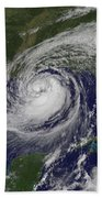 Hurricane Isaac In The Gulf Of Mexico Bath Towel