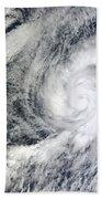 Hurricane Kenneth Off The Coast Bath Towel
