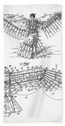 Icarus Patent 1889 Bath Towel