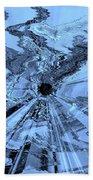 Ice Blue - Abstract Art Bath Towel