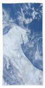 Ice Floes Along The Coastline Bath Towel