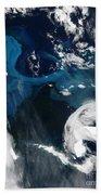 Icebergs Near South Georgia Island Bath Towel