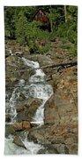 Icy Water Falls Glen Alpine Falls Bath Towel