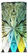 Illumination Of The Glass Butterfly Bath Towel