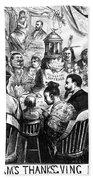 Immigration Cartoon, 1869 Bath Towel