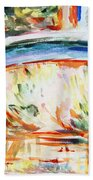 Impressions On Monet Painting Of Pond With Waterlilies  Bath Towel