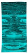 In Your Face In Neagtive Turquois Bath Towel