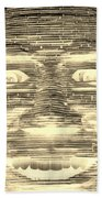 In Your Face In Negative Sepia Bath Towel