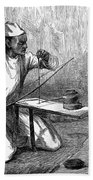 India: Pearl Borer, 1876 Bath Towel